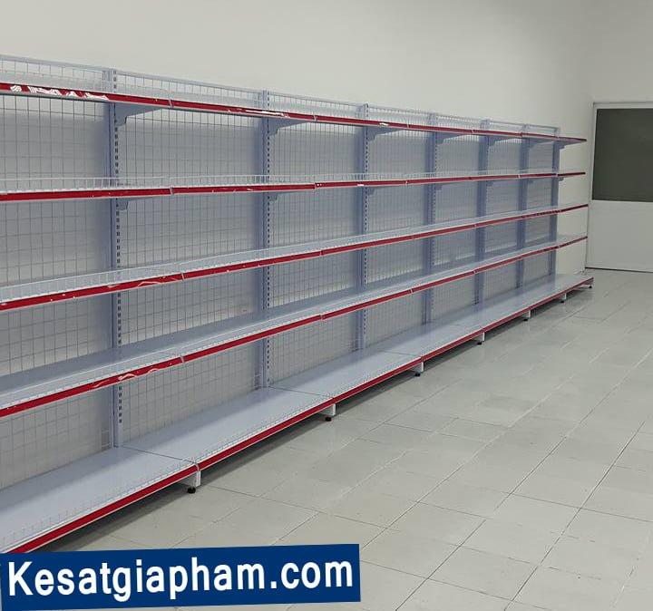 kệ siêu thị - giá kệ siêu thị đơn - kệ sắt Gia Phạm