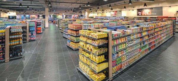 Bán kệ siêu thị