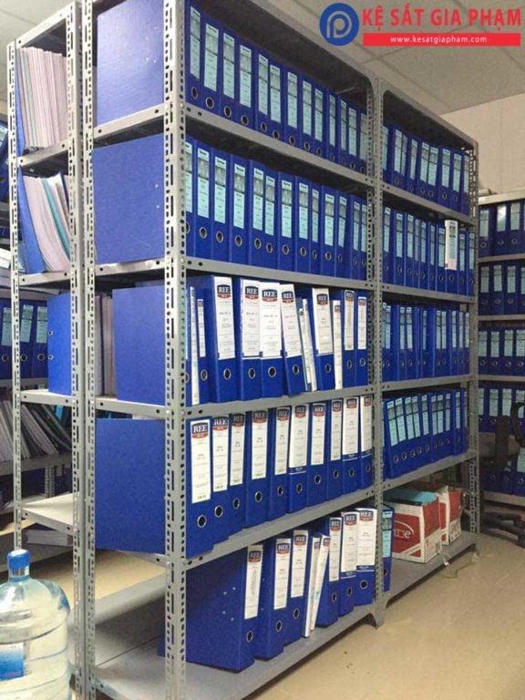 kệ sắt v lỗ để hồ sơ lưu trữ