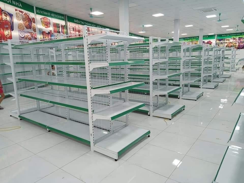 Kệ siêu thị 5 tầng màu xanh