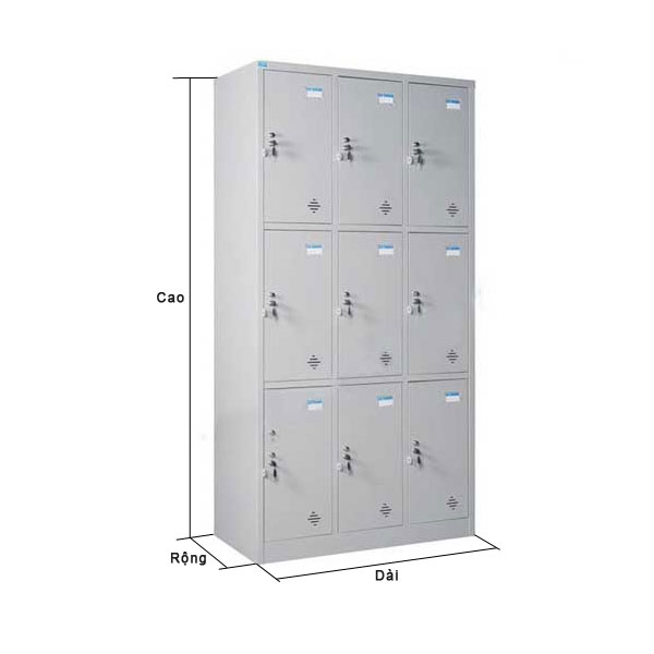 kích thước tủ locker văn phòng