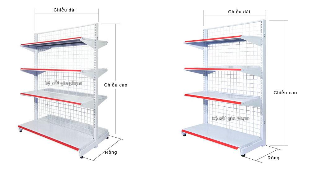 quy định về kích thước của kệ siêu thị